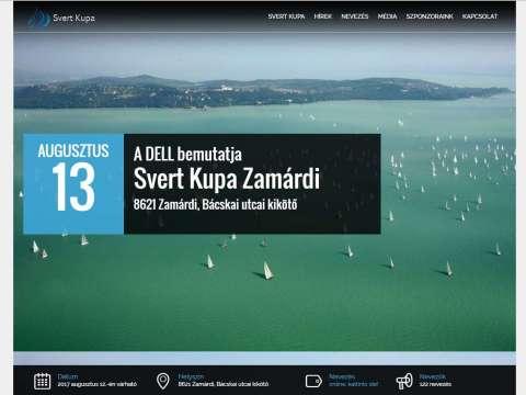 Svertkupa.hu egyedi nevezős fejlesztés